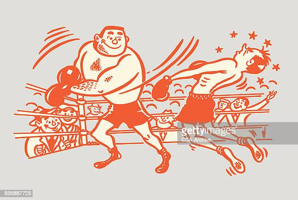 boxing match - knockout stock illustrations, clip art, cartoons, & icons