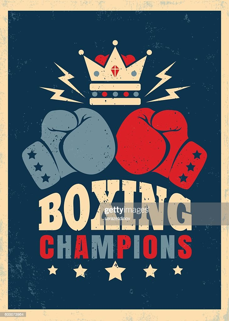 Boxing retro poster