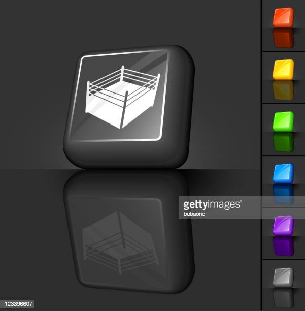 boxing ring 3D button design