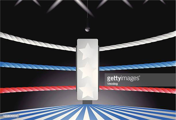 boxing ring corner - boxing ring stock illustrations
