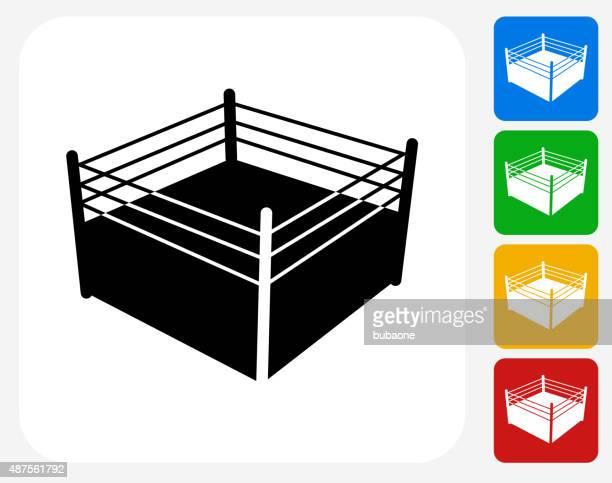 Boxing Ring Icon Flat Graphic Design