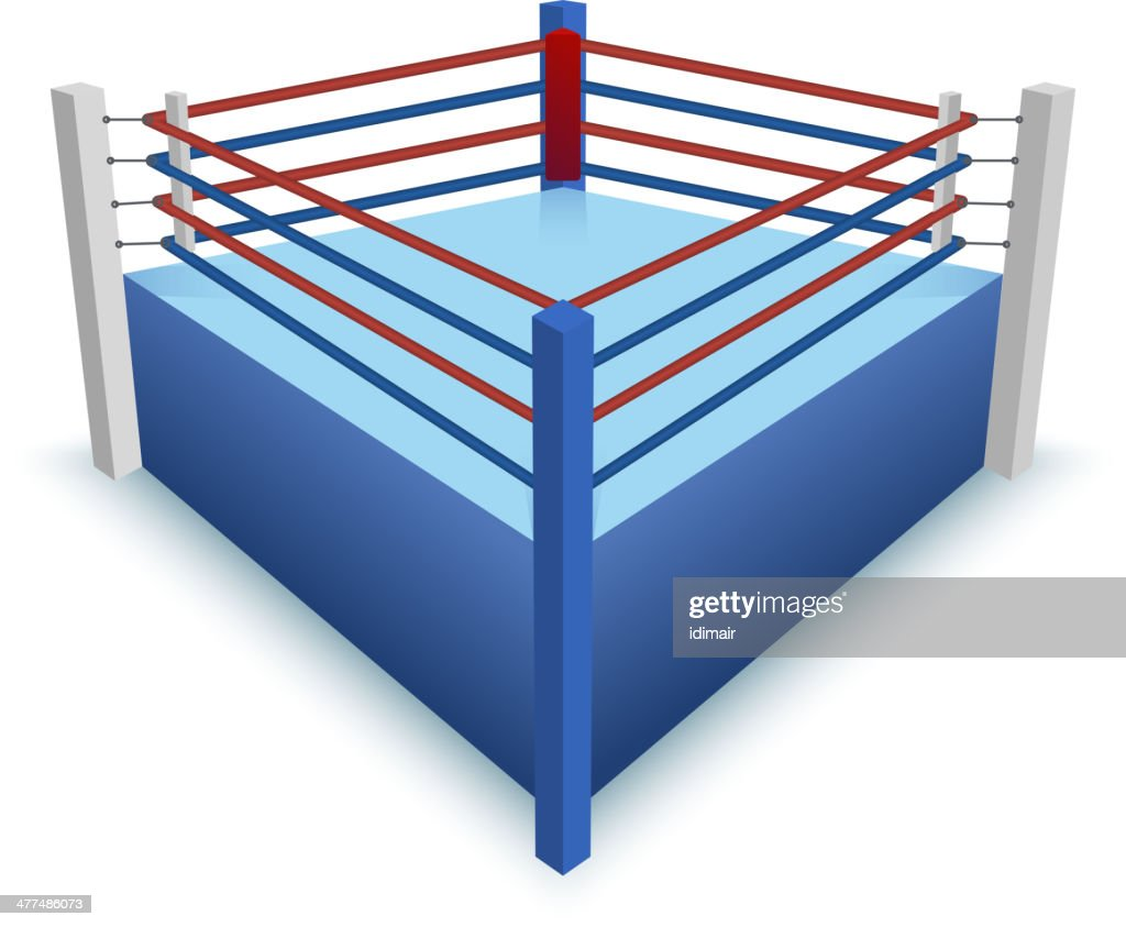 Boxing ring isolated on white vector vector art getty images boxing ring isolated on white vector vector art ccuart Images