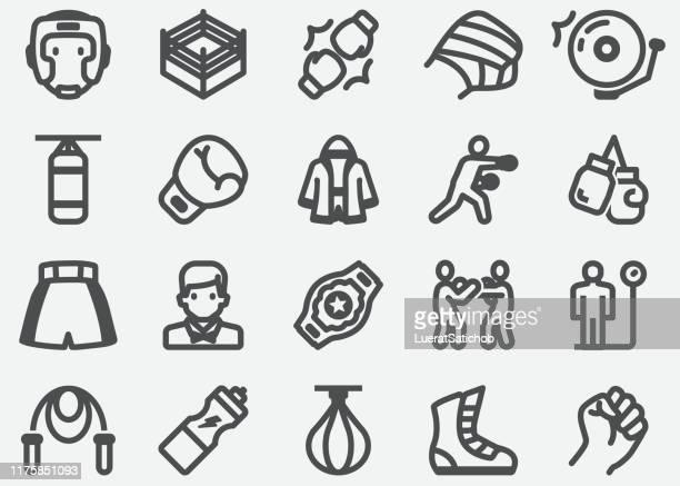 boxing sport icons - mixed martial arts stock illustrations