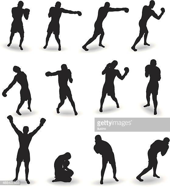 bildbanksillustrationer, clip art samt tecknat material och ikoner med boxing - boxning sport
