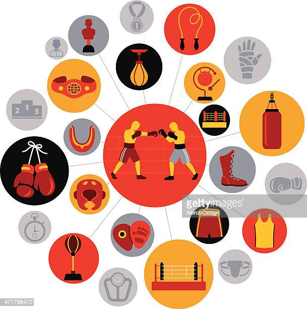 ilustrações de stock, clip art, desenhos animados e ícones de boxe - luva de boxe