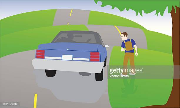 boy abducted child safety - stranger stock illustrations
