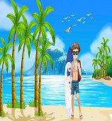 Boy and beach