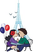 Boy and girl in Paris
