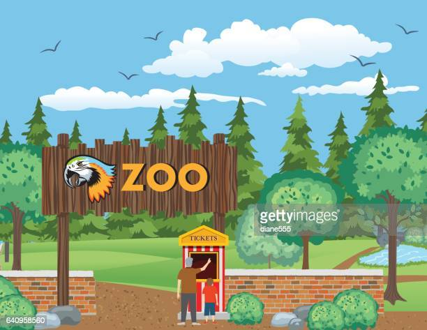 A Boy And His Grandfather Visit The Zoo