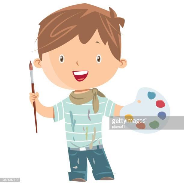 Jongen kunstschilder