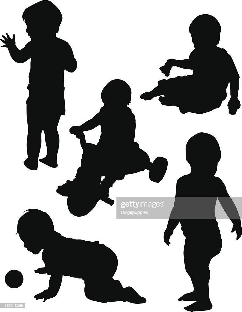 Boy at Play : stock illustration