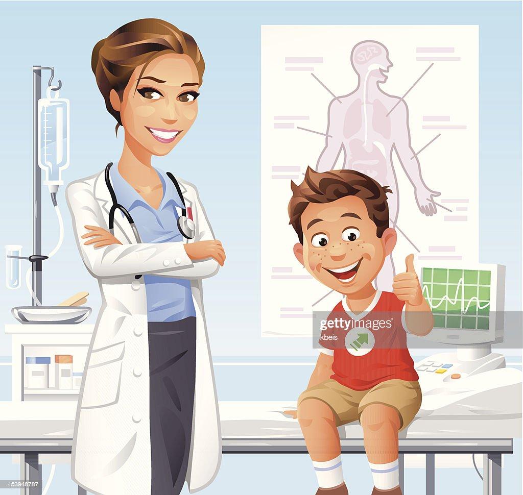 少年、医師 : ストックイラストレーション