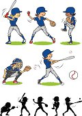 Boy baseball character