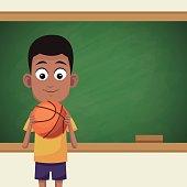 boy classroom chalkboard sport