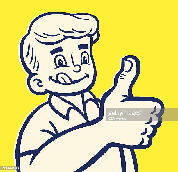 boy giving thumbs up - licking stock illustrations, clip art, cartoons, & icons
