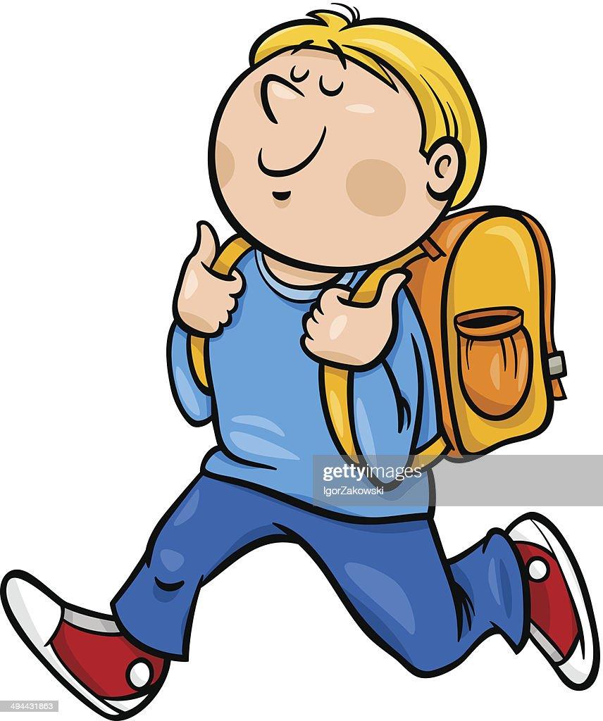 boy grade student cartoon illustration