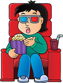 Boy in cinema theme image 1