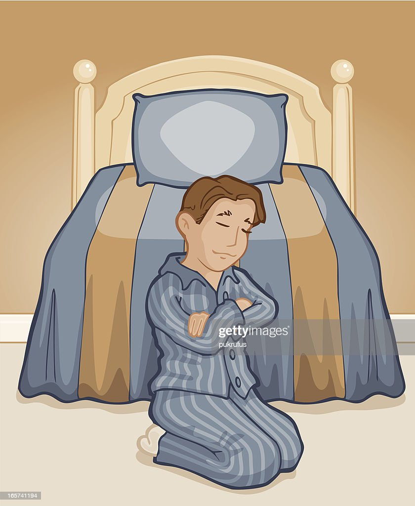 Boy in Prayer : stock illustration