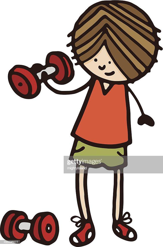 Gewichtheben Vektor Clipart Bild -peop1835-CoolCLIPS.com