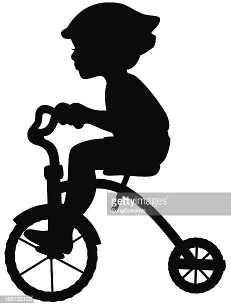 Boy on Tricycle Silhouette