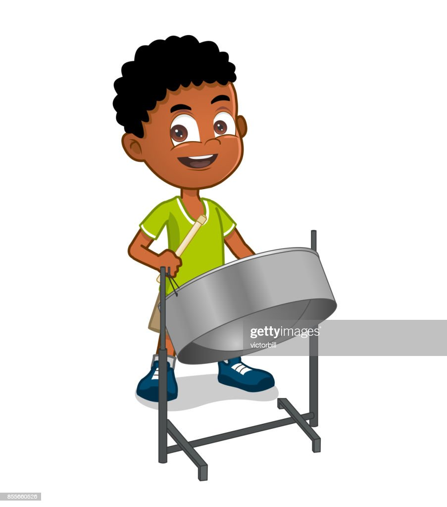 boy playing steelpan