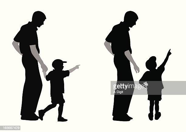 Boy Pointing Vector Silhouette