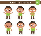 Boy poses and expressions (Vol. 3 / 8)