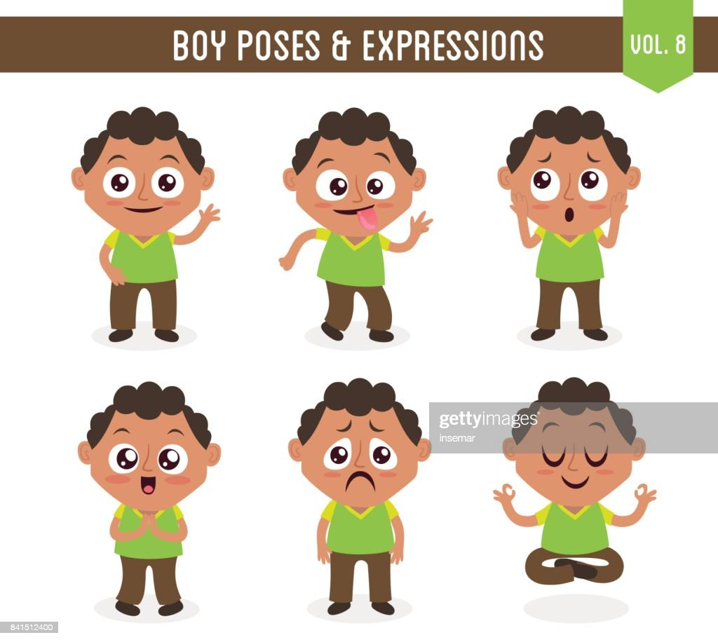 Boy poses and expressions (Vol. 8 / 8)