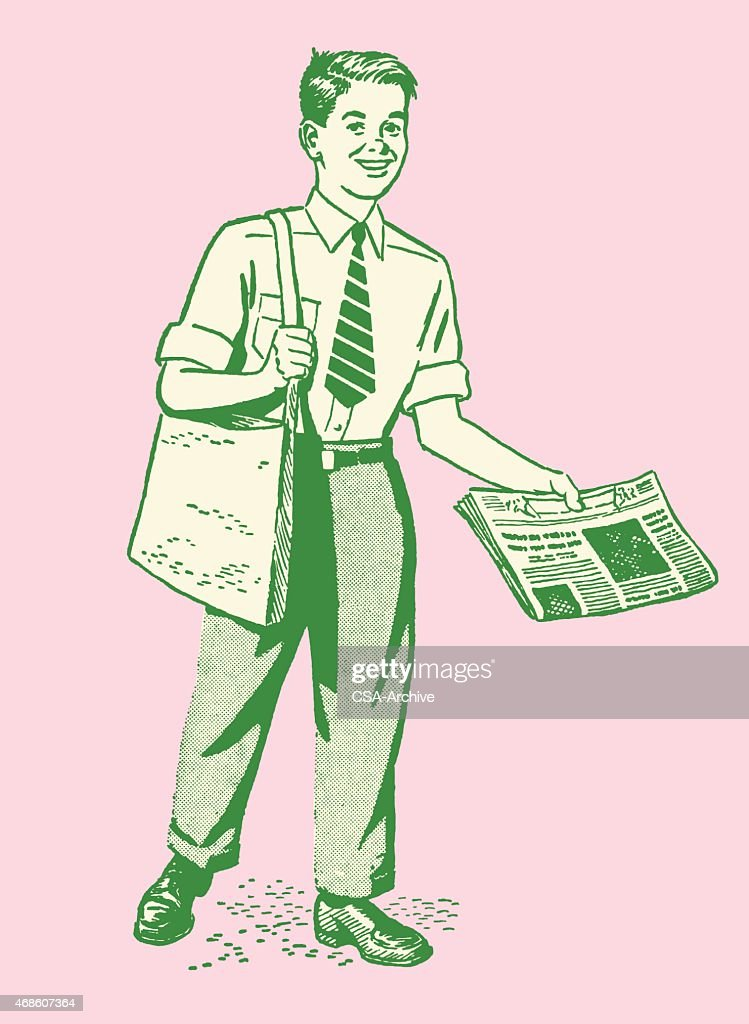 Boy Selling Newspapers
