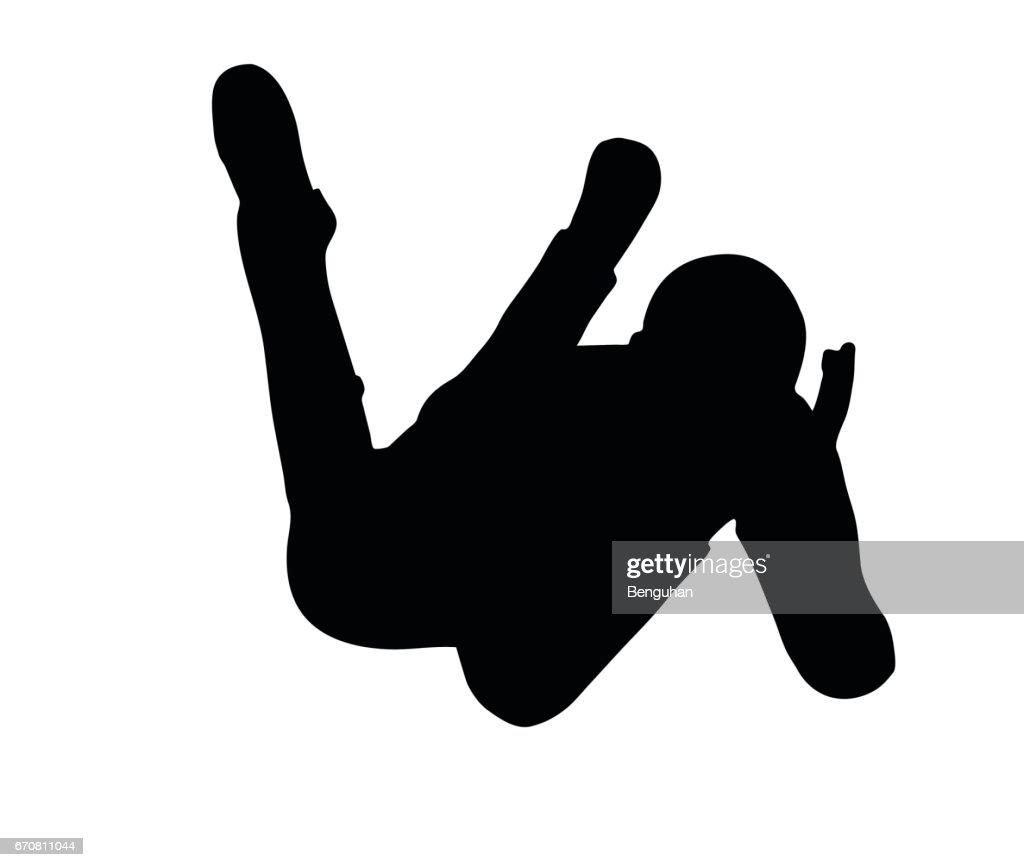 boy silhouette in sitting Laying pose