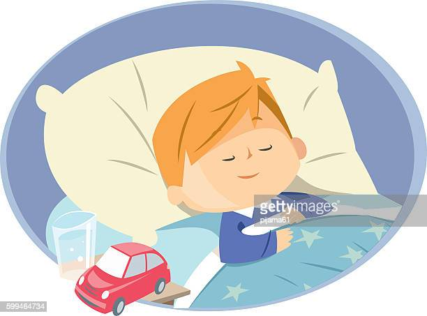 boy sleeping - sleeping stock illustrations