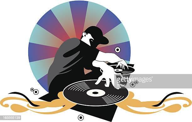 ilustrações de stock, clip art, desenhos animados e ícones de dj rapaz - hip hop