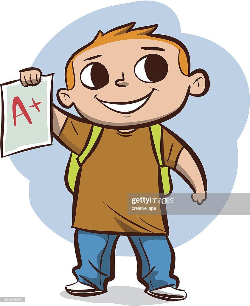 Boy with A Plus Grade