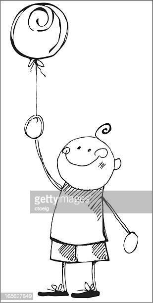Niño con ballon