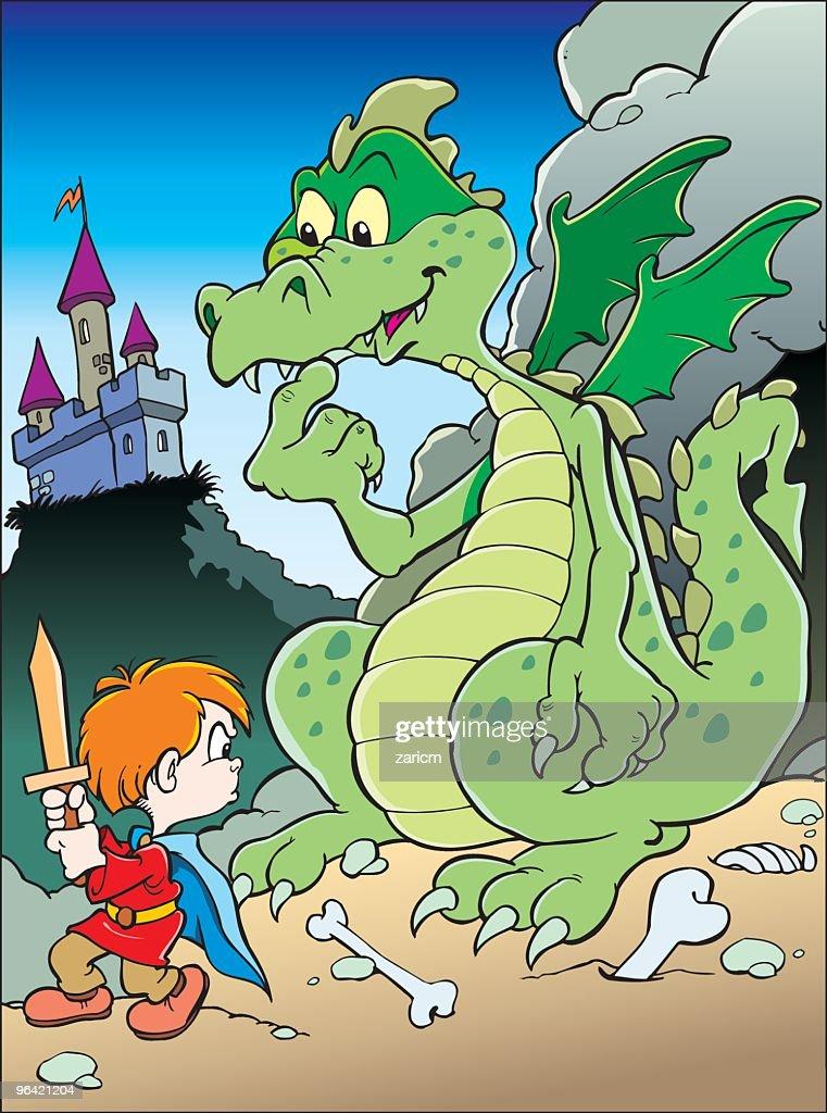 Boy with dragon