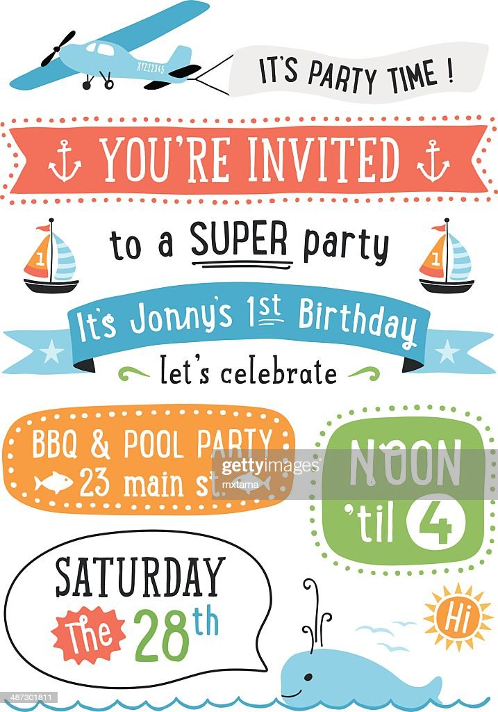 Boy's Birthday Party Invitation