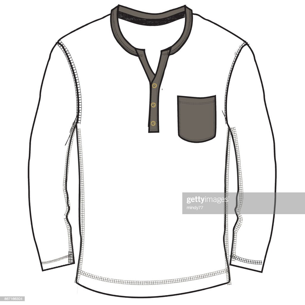 Boys Clothes Flat Sketch Template Isolated Vector Art | Getty Images