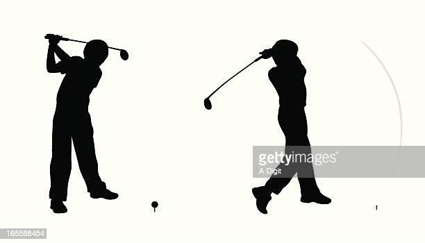 Boy's Golf Vector Silhouette
