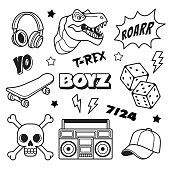 Boys patches collection.