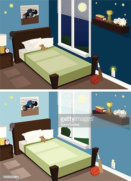 Boy's Zimmer, Tag & Nacht