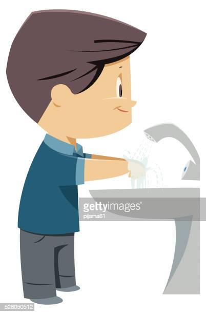 Garçons se laver les mains