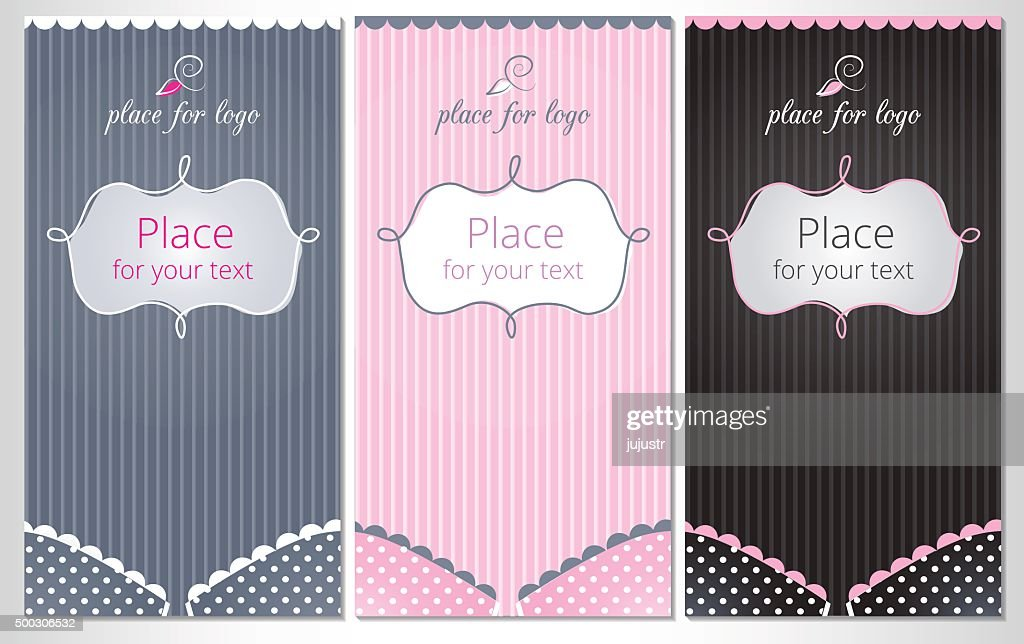 Bra striped background with empty space for text