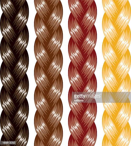 braided hair - braided hair stock illustrations, clip art, cartoons, & icons