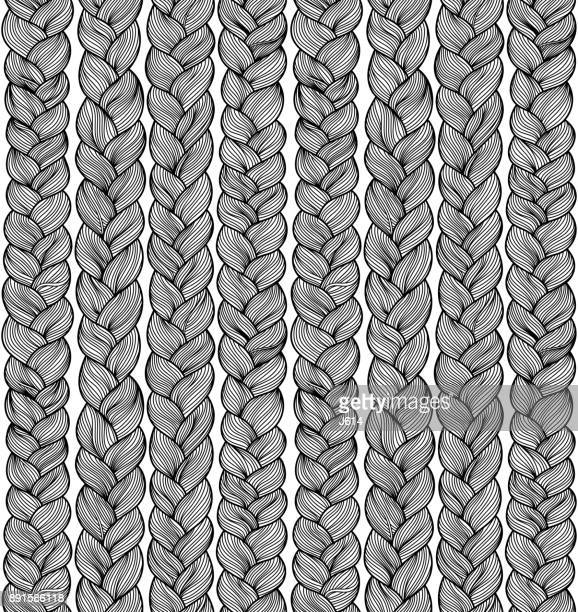 braids - braided stock illustrations