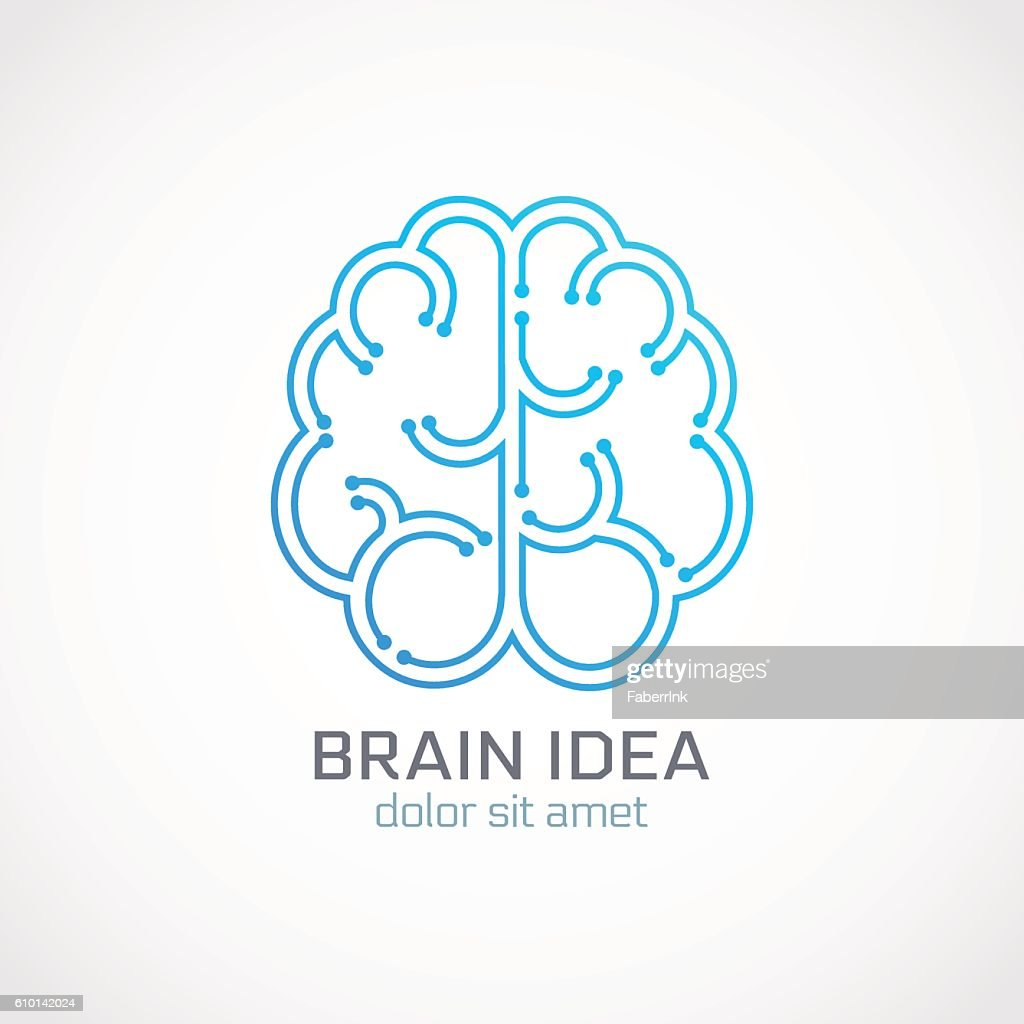 Brain abstract logo template Vector illustration