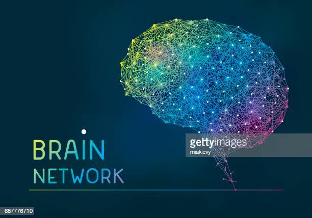 brain abstract network banner - synapse stock illustrations