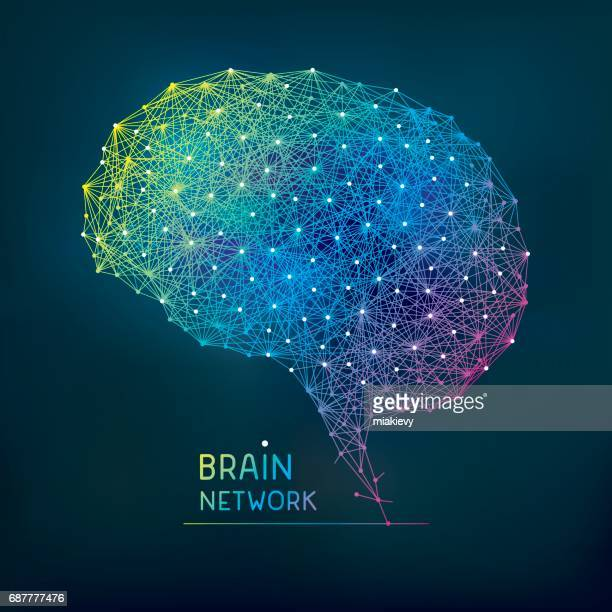 brain abstract network - human brain stock illustrations, clip art, cartoons, & icons