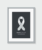 brain cancer awareness frame