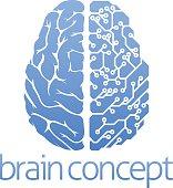 Brain circuit board concept