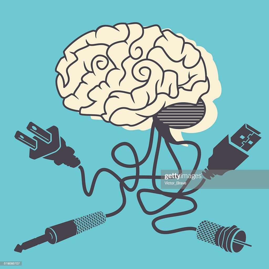 Brain connectivity, vector illustration.